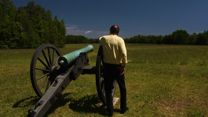Gaillard, Frye with cannon at Wilderness site